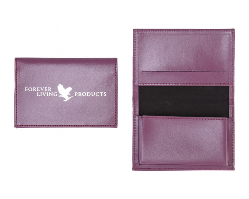 Forever leather business card holder purple forever living fbo forever leather business card holder purple reheart Gallery